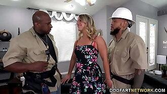 TV Repairman And His Apprentice DP Big Ass MILF Candice Dare