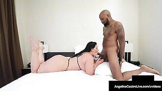 Nut Busting Cuban BBW Angelina Castro Milks A Big Black Cock