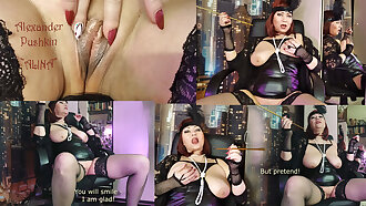 A hot mature whore reads poetry with spread legs & wet pussy