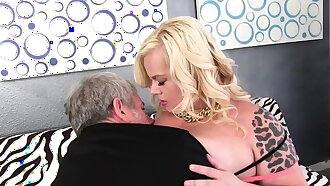 Chubby blonde her asshole munched fuck and facial