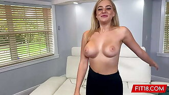 FIT18 - Blake Blossom Returns For Second Casting Showing Off Her Big Natural Breasts And Tattoo Free Thicc Body