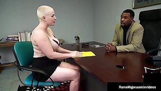 Hot Buzz Cut Beauty Riley Nixon Busts Black Nut Rome Major!